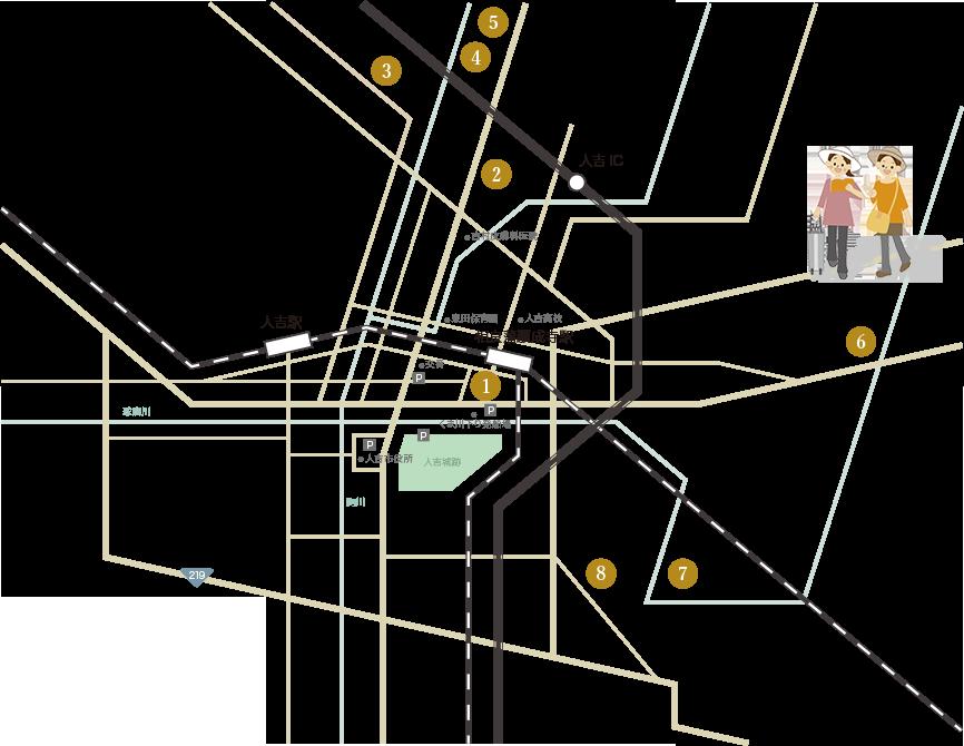 人吉隠れ 念仏の里 巡りマップ